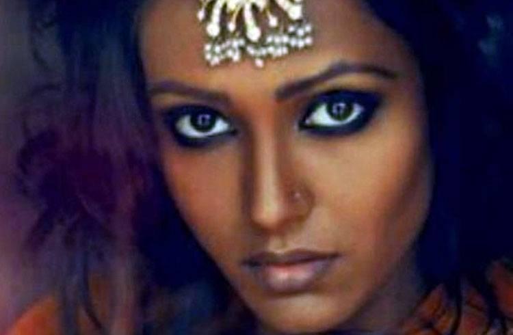 Indian black skin beauty