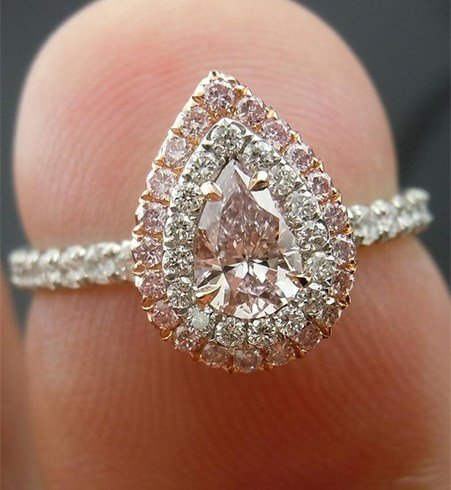 Pear Shaped Diamond Ring cut