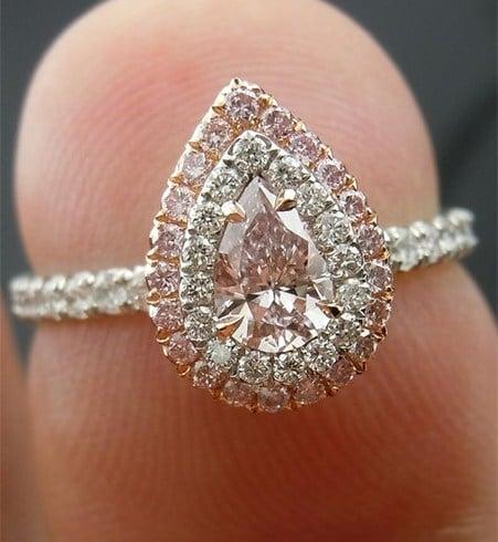 Pear Shaped Diamond Ring cut
