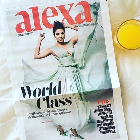 Priyanka Chopra In New York Posts Alexa