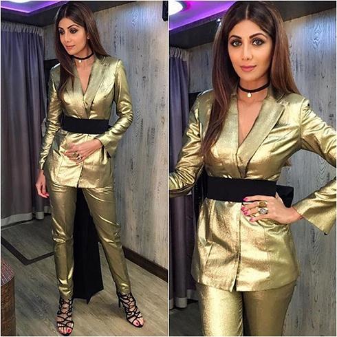 Shilpa Shetty Nikhil Thampi Outfit