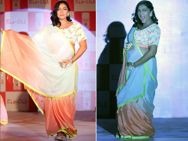 Shveta Salve ramp walk during pregnancy