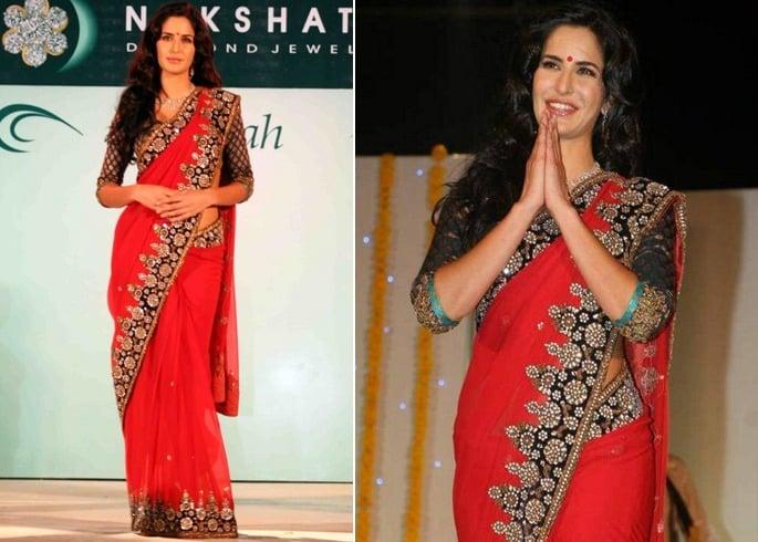 Actress In Red Saree