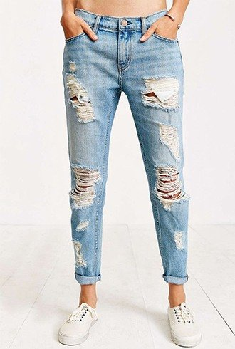 how to rip jeans DIY