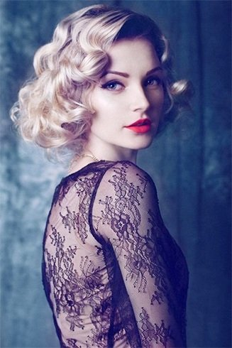 vintage hairdos for long hair