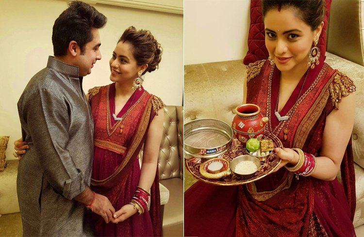 Aamna Sharif Dresses For Karva Chauth