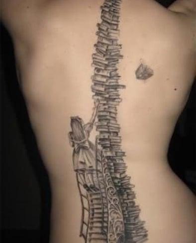 Artistic Spine Tattoo