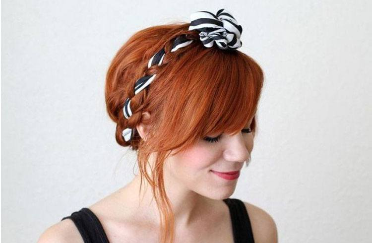 Bandana With A Crown Braided Hairstyle