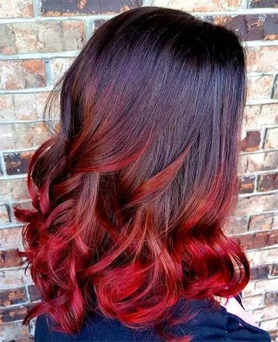 Groovy Red And Black Hairstyles The Latest Color Trend That We39Re In Hairstyle Inspiration Daily Dogsangcom