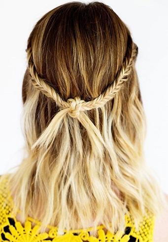 Boho Style Half Up Hairdo