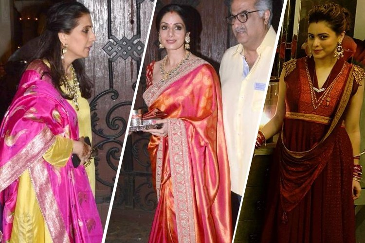 Bollywood Dresses Up for Karva Chauth