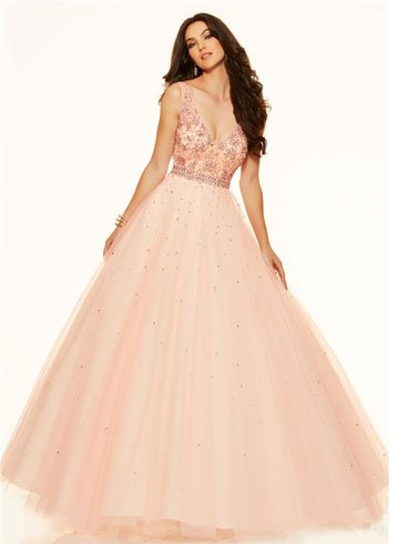Champagne Pink Wedding Dress