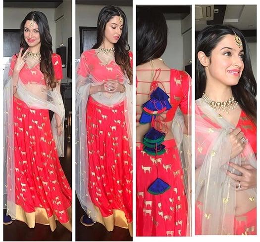 Divya Khosla Kumar Dresses For Karva Chauth