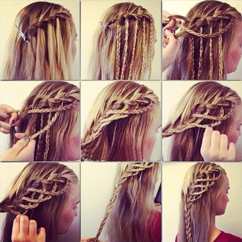 Half-Up Rope Braid tutorials