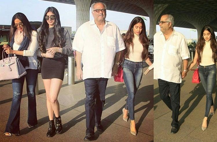Jhanvi Kapoor Airport Styles