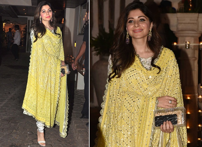 Kanika Kapoor Dresses For Karva Chauth