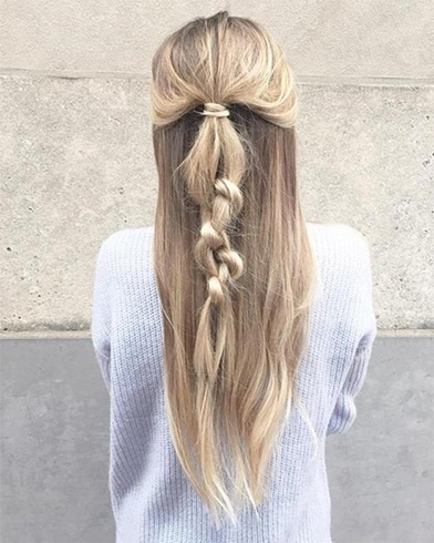 Knotted Half Up Hairstyle