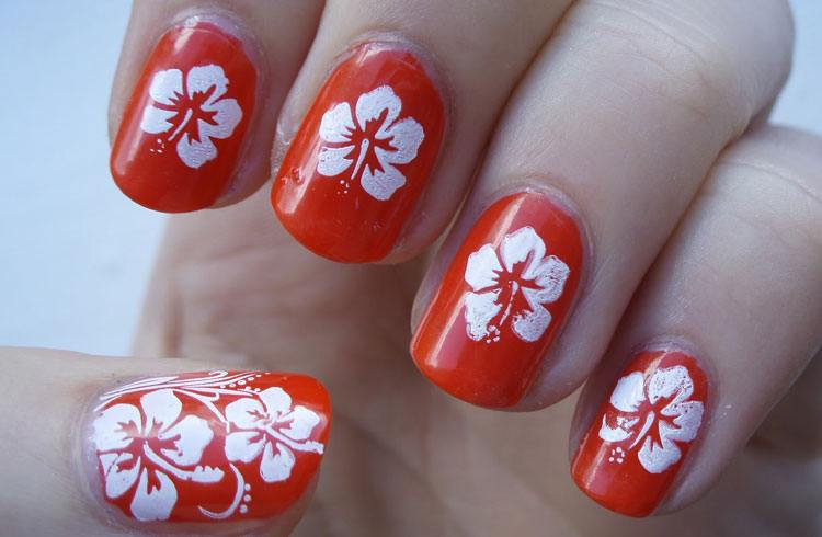 Nail Art On Red Nails