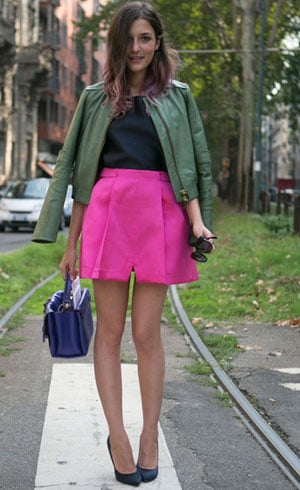 Pink And Forest Green