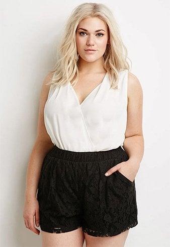 Plus Size Lace Shorts Style