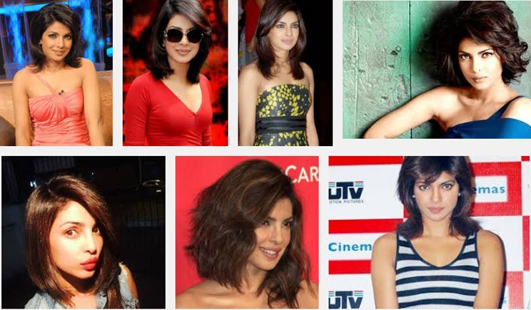 Priyanka Chopra short hairstyles