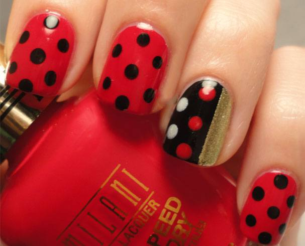 Red Acrylic Nail Designs