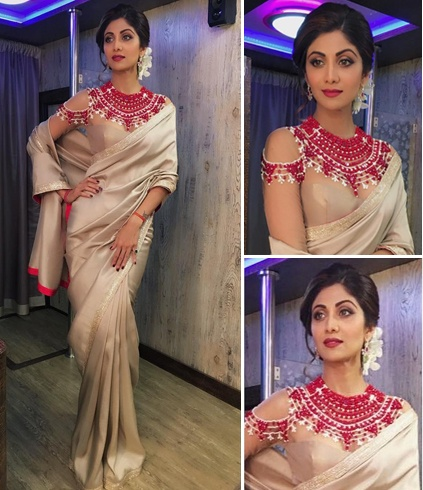 Shilpa Shetty Manish Malhotra Saree