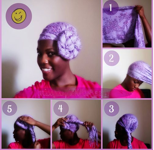 Side Bun Turban