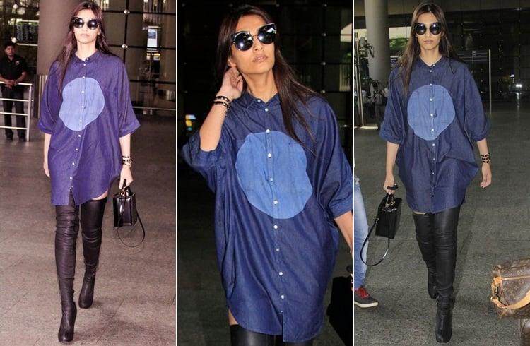 Sonam Kapoor Airport Styles