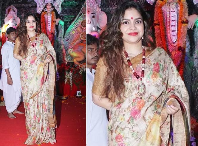 Soumina Chatterjee at Durga Puja
