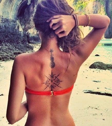 Spine Tattoos With Symbols