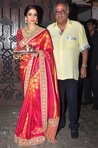 Sridevi Dresses For Karva Chauth