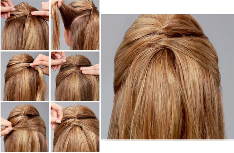 Stylish Half-up Half-down Tutorials