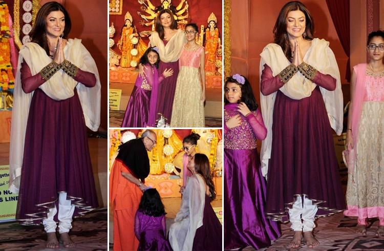 Sushmita Sen At Durga Puja