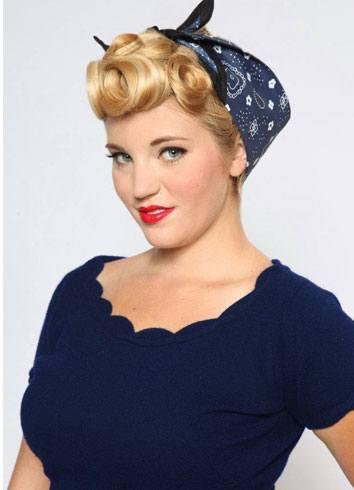 Vintage Style Bandana Hairstyle