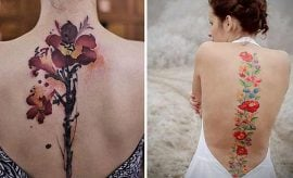 Watercolor Spine Tattoos