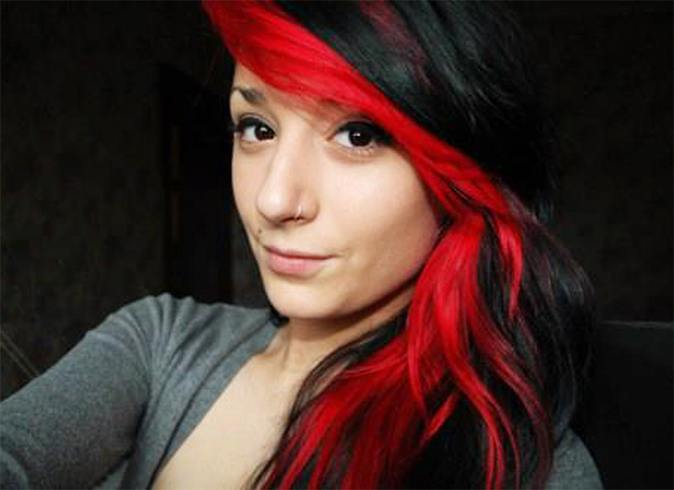 Red and black hairstyles the latest color trend that were in womens hairstyles urmus Images