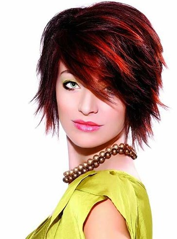 Womens Red And Black Hairstyles