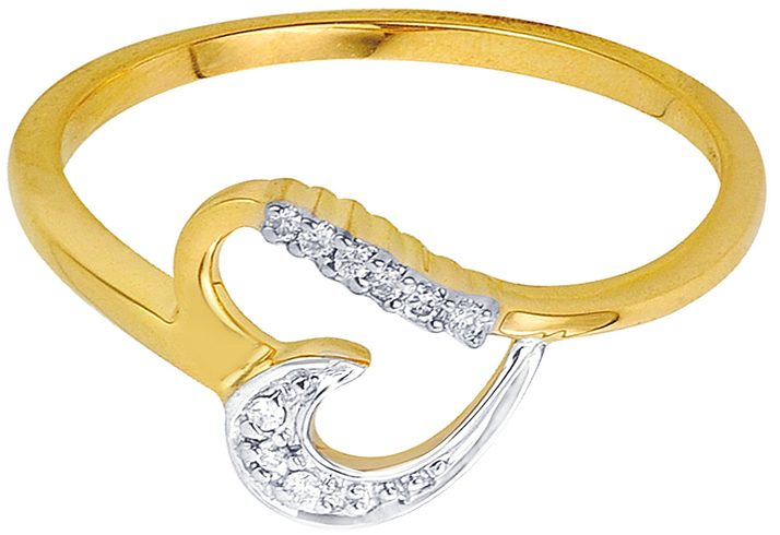 Asmi Gold Ring With Diamonds