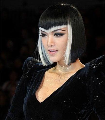 Black And White Haircut