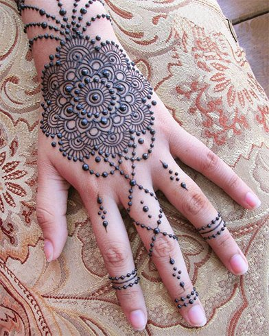 Dots and Chains Mehndi