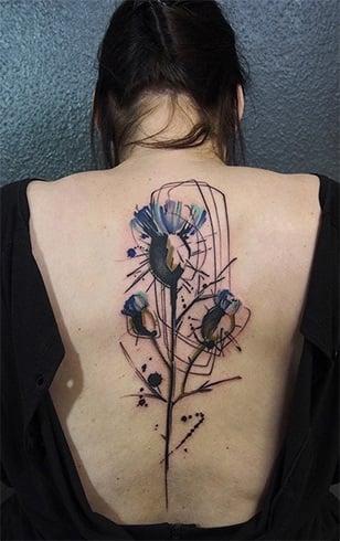 Female Spine Tattoos