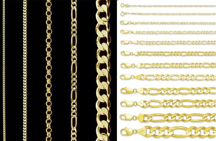 different chain types you need to while going jewelry