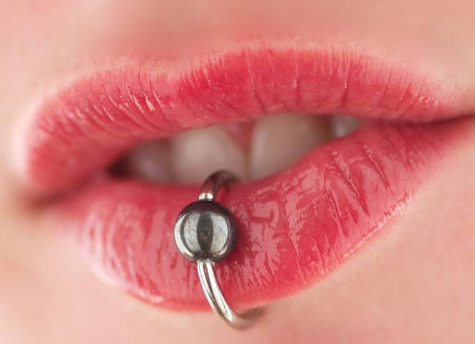 piercing is healing