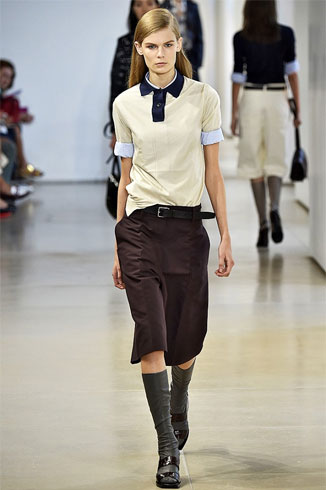 PoloT Shirt With Culottes