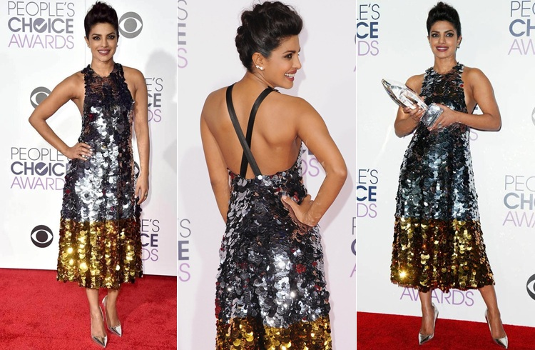 priyanka chopra at peoples choice awards