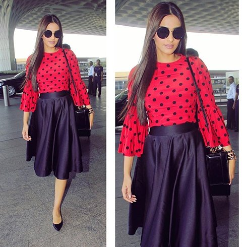 Sonam Kapoor Airport Fashion