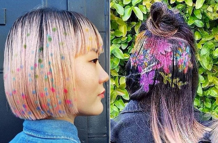 Spray Paint Hair