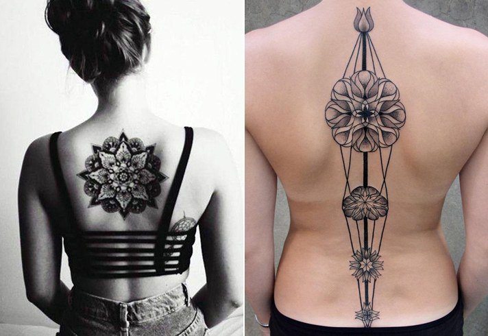 Tattoos Down Spine Ideas