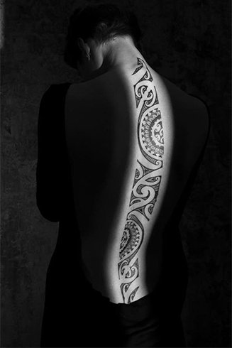 Tattoos Down the Spine Ideas